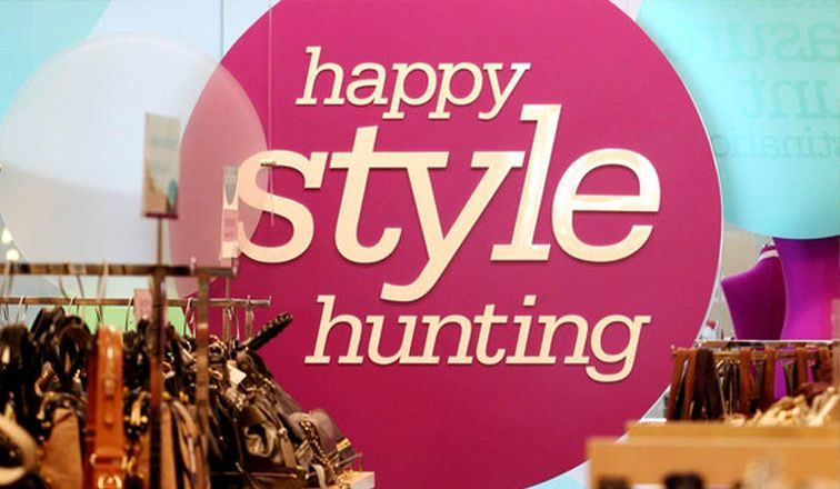'Happy Style Hunting' graphic for Nordstrom Rack
