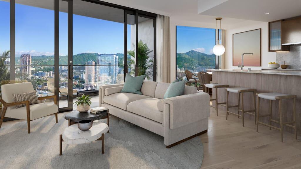 Residence 2D Living Room