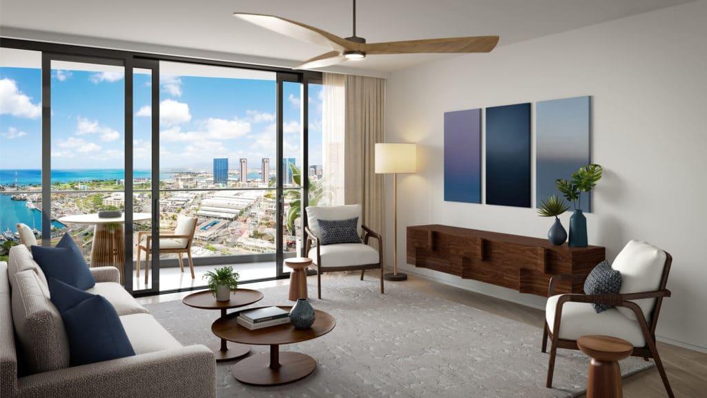 Residence 1G Living Room